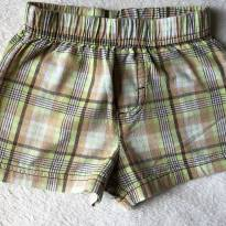 Short Xadrez 3m - 0 a 3 meses - Little
