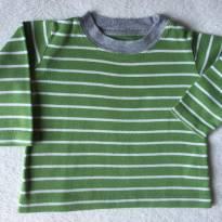 Camiseta manga Longa Carter`s - 3 a 6 meses - Carter`s