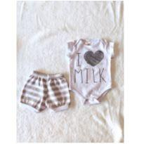 Conjunto 2 body + short - 0 a 3 meses - Club B