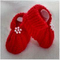 Sapatinho fofinho para bebê em tricô - 0 a 3 meses - Não informada