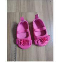 sapatilha plástico flor rosa sola antiderrapante - 04 - Não informada