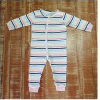 Macacão Baby Bebe 6 A 9 Meses Menina Hering Listado Roupa - 6 a 9 meses - Hering Kids