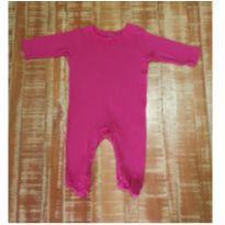 Macacão Baby Bebe 3 A 6 Meses Menina Pink Com Pezinho Roupa - 3 a 6 meses - Baby Way