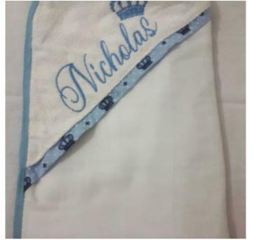 toalha de banho 70x70cm - Sem faixa etaria - Ateliê Pequeninos