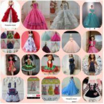 Kit de roupinhas para bonecas barbie e similares -  - Artesanal