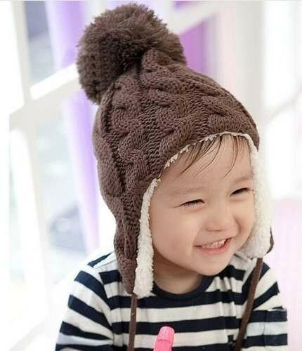 Touca De Inverno Bebê Gorro Infantil Meninas E Meninos  6ef5c0459e5