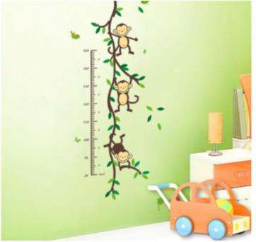 Adesivo Decorativo Macaco C/ Régua De Crescimento - Sem faixa etaria - Baby