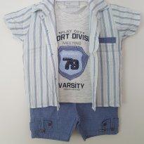 Conjunto com camisa social! (ref.90) - 3 meses - Beth Bebê