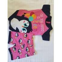 Pijama Puket Pinguim - 3 a 6 meses - Puket