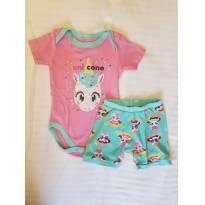 Pijama Unicórnio Baby Puket - 3 a 6 meses - Puket