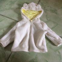 Casaco branco pelúcia gatinho - 3 a 6 meses - Baby Club e Baby clube