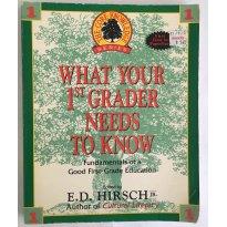 Livro What Your 1st First Grader Needs To Know -  E. D. Hirsch - Sem faixa etaria - Delta