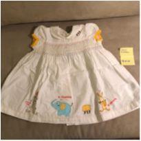 Vestido Chicco - 3 meses - Uma fofura - Pouco Uso - 3 meses - Chicco