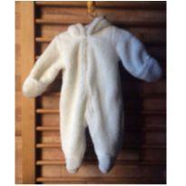 Macacão de zíper urso inverno - 6 meses - Sem marca