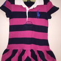 Vestido Polo Ralph Lauren Tamanho 3T Pink Azul Marinho - 3 anos - Ralph Lauren