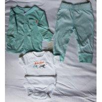 Conjunto Cardigan Azul Carter´s (9 meses) - 6 a 9 meses - Carter`s