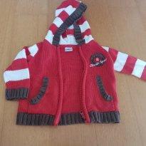 Malha casaco Blusa com zíper e capus Tip Top Tam M - 6 meses - Tip Toey Joey