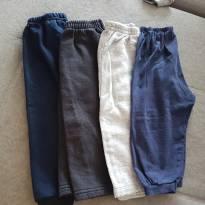 Kit calças - 3 moleton 1 meia estação - 12 a 18 meses - Não informada