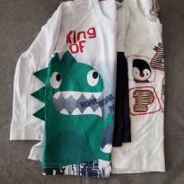 Kit 2 blusas mangas compridas - 1 ano - Não informada