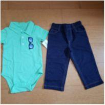 Conjunto Carter`s Calça e Body Polo - 9 a 12 meses - Carter`s