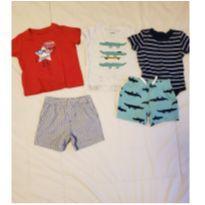 Conjunto shorts Carter`s 6 e 9 meses - 6 a 9 meses - Carter`s