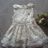 Vestido Dourado - 2 anos - Brandili