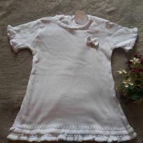 Vestido c/ Babados de Trico Branco - NOVO - 3 anos - Baby Classic