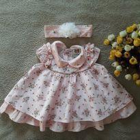 Vestido Baby Florido c/ Faixa