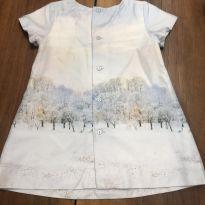 Vestido Zara floresta - 9 a 12 meses - Zara