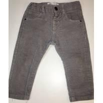 Calça Veludo Cinza Zara - tamanho 6-9 meses - 6 a 9 meses - Zara