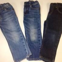 Promoção kit com 3 calcas jeans - tamanho 2 anos - 2 anos - varios