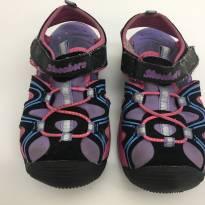 Tênis rosa com preto - tamanho 25 - 25 - Skechers