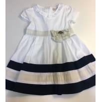 Vestido Milon algodão branco - tamanho 2 - 2 anos - Milon