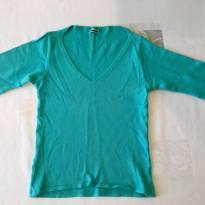 Blusinha tricot azul - tam 09-10 anos - 9 anos - varios