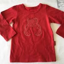Blusa Vermelha - tam 02-03 - 2 anos - Kyly