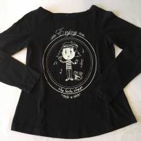 Camiseta Preta - tam 10 - 10 anos - varios
