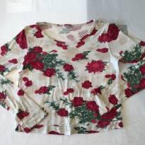 Blusinha floral - tam 9-10 anos - 9 anos - PUC