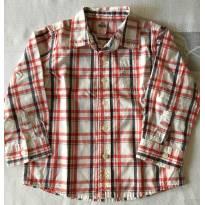 Camisa Zara Xadrez - tam 12-18 meses - 12 a 18 meses - Zara