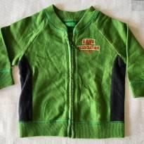 Moletom Verde - tam 03 meses - 3 meses - Benetton