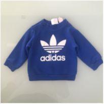 Moleton Adidas Azul Tamanho 12 meses - 1 ano - Adidas
