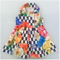Vestido Estampado Xadrex Um Mais Uma Tamanho 3 - 3 anos - Um mais um