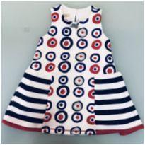Vestido de Bolas Um Mais Um Tamanho 3 - 3 anos - Um mais um