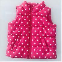 Colete Rosa de Bolinhas Baby GAP 18 a 24 meses - 18 a 24 meses - Baby Gap