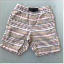 Shorts Listrado Sem Marca Tamanho 5 - 5 anos - Sem marca