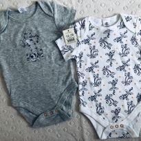 Body cotton novos - 12 a 18 meses - Disney