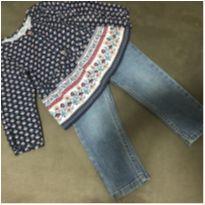 Conjunto bata manga longa e calça jeans Carters - 18 meses - Carter`s