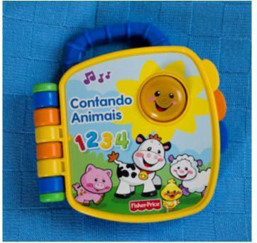 Livro Aprender e Brincar - Contando animais - Fisher-Price - Sem faixa etaria - Fisher Price