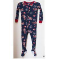 Macacão pijama Babies R Us com pé – 24 meses - caminhões de bombeiro - 2 anos - Babies R Us