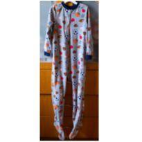 Pijama macacão em fleece Carter´s 6 anos - Estampa de bolas - 6 anos - Carter`s