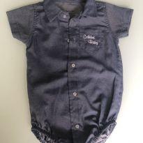 0062. Body camisa cor jeans